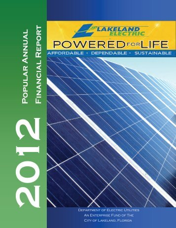 2012 Popular Annual Financial Report - City of Lakeland