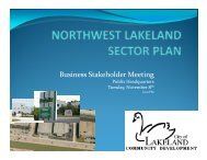 Business Stakeholder Meeting - City of Lakeland