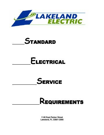 standard electrical service requirements - City of Lakeland
