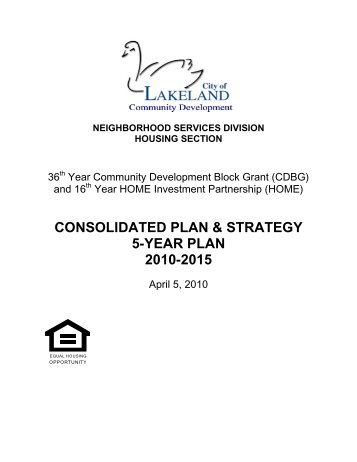 CONSOLIDATED PLAN & STRATEGY 5-YEAR ... - City of Lakeland