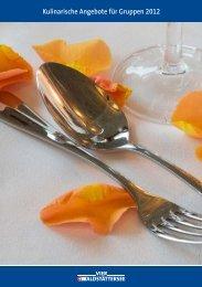 Kulinarische Angebote für Gruppen 2012 - Schifffahrtsgesellschaft ...