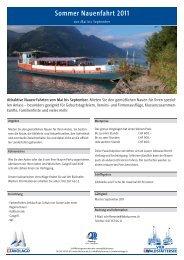 Sommer Nauenfahrt 2011 - Schifffahrtsgesellschaft des ...