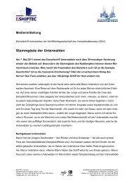 13.04.11 Medienmitteilung Stammgäste Dampfschiff