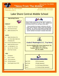 Middle School Newsletter February 2013 - Lake Shore Central ...