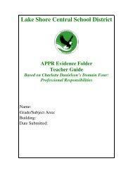 Evidence Folder for Teachers in PDF - Lake Shore Central School ...