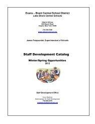 Staff Development Catalog - Lake Shore Central School District ...