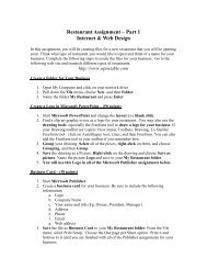 Microsoft Publisher Assignment