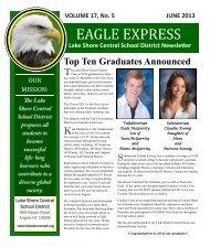 June 2013 Eagle Express - Lake Shore Central School District ...