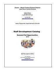 Staff Development Opportunities - Lake Shore Central School ...