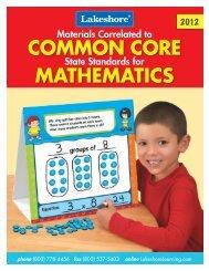 Common Core State Standards for Mathematics - Lakeshore ...