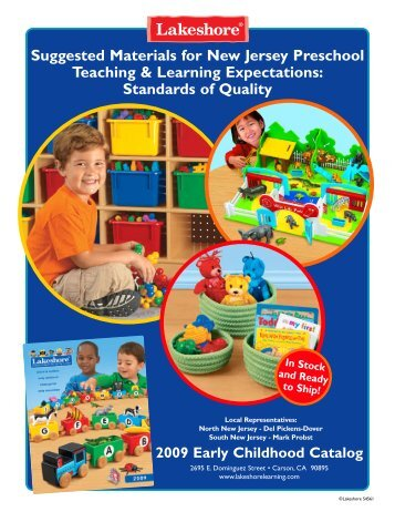 Suggested Materials for New Jersey Preschool Teaching & Learning ...