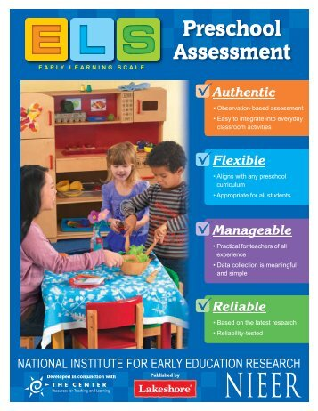 EARLY LEARNING SCALE Preschool Assessment - Lakeshore ...