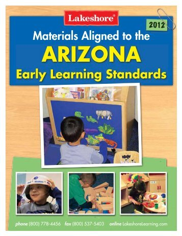 Arizona Early Learning Standards - Lakeshore Learning Materials