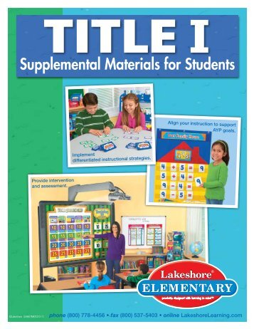 Title I Supplemental Materials for Students - Lakeshore Learning ...