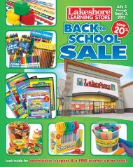 Back-To_School Brochure - Lakeshore Learning Materials