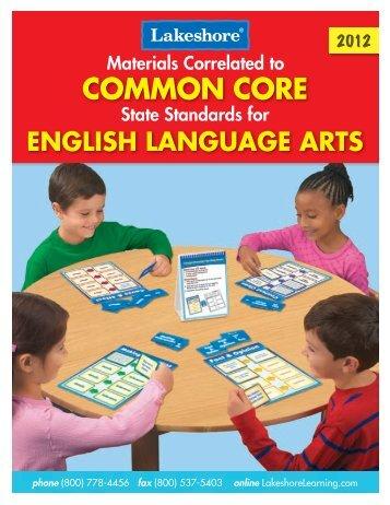 English Language Arts - Lakeshore Learning Materials