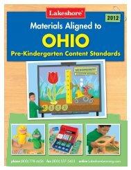 Ohio Pre-Kindergarten Content Standards - Lakeshore Learning ...