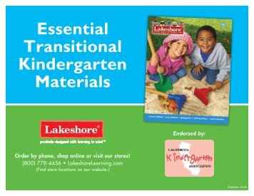 Essential Transitional Kindergarten Materials - Lakeshore Learning ...
