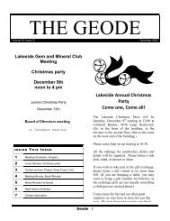 December - Lakeside Gem and Mineral Club