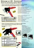 Werkzeuge für LWL - Bearbeitung Tools for processing optical fibres - Seite 5