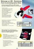 Werkzeuge für LWL - Bearbeitung Tools for processing optical fibres - Seite 7