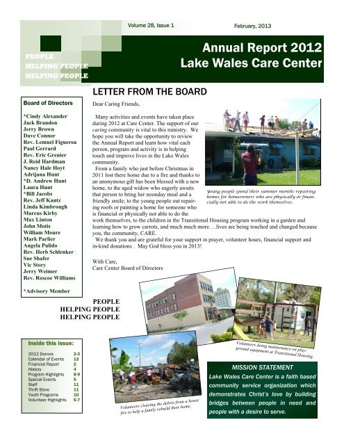 Lake Wales Care Center >> Stay At Home Work Camp Lake Wales Care Center