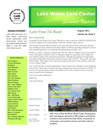 Lake Wales Care Center >> Www Lakewalescarecenter Org Magazines