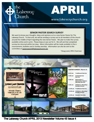 April 2013 - The Lakeway Church