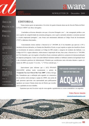 Aware de Direito Fiscal - Abreu Advogados
