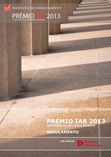 Regulamento do Prémio IAB 2013 [PDF] - Abreu Advogados