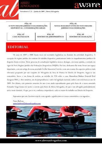 Aware Direito do Desporto - Abreu Advogados