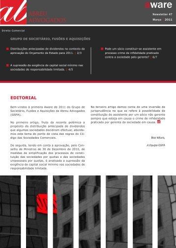 Aware | APDC | Grupo de Societário, Fusões e ... - Abreu Advogados