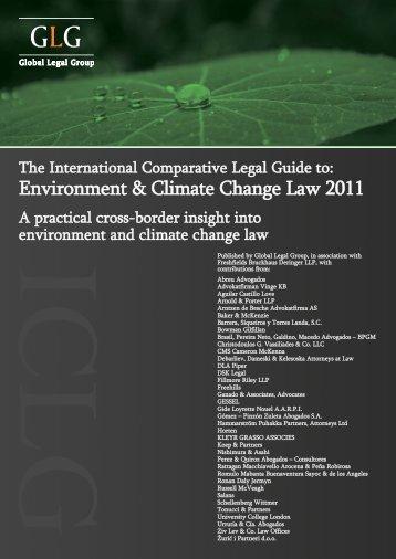 Environment & Climate Change Law 2011 - Abreu Advogados