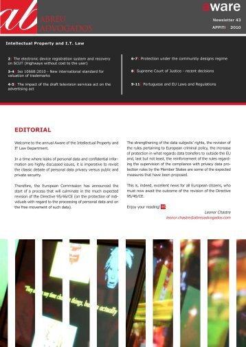 Aware | Intellectual Property and IT Law Practice ... - Abreu Advogados