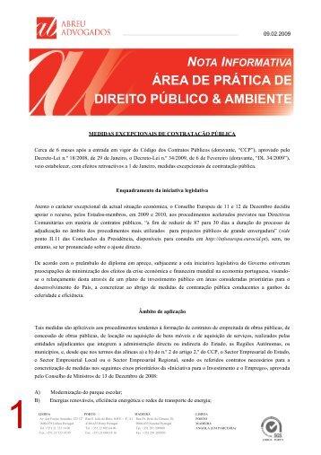 Medidas Excepcionais de Contratação Pública - Abreu Advogados
