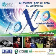 Scarica la brochure degli eventi in formato pdf - ASEV