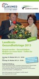 Landkreis- Gesundheitstage 2013 - Krankenhaus Landshut-Achdorf