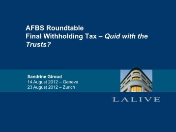 trusts - Lalive