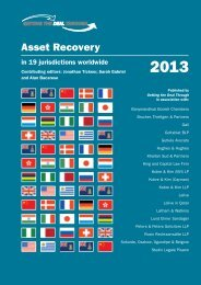 Asset Recovery - Lalive