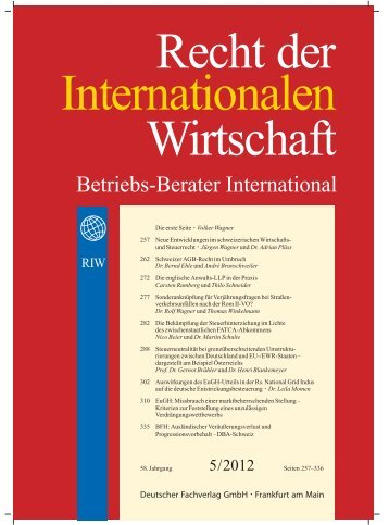Betriebs-Berater International - Lalive