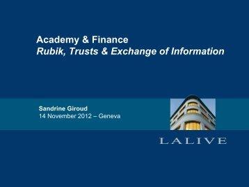 presentation - Lalive