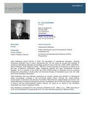 Dr. Veijo HEISKANEN Partner Rue de la Mairie 35 PO Box ... - Lalive