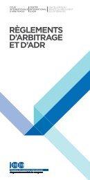 CCI, Règlements d'arbitrage et d'ADR - Lalive