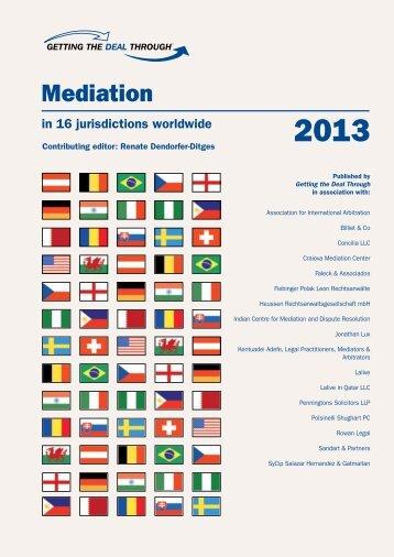 Mediation – Switzerland - Lalive