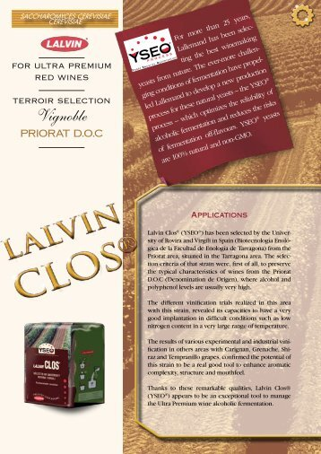 Technical data sheet - Lallemand Wine