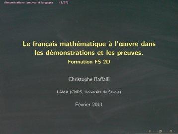 Les slides de mon intervention - Lama - Université de Savoie