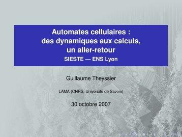 Automates cellulaires - Lama - Université de Savoie