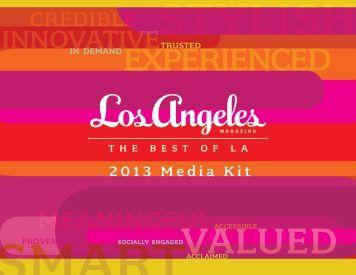 2013 Media Kit - Los Angeles Magazine