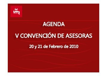 agenda convencion asesoras 2010 [Sólo lectura ... - La Maleta Roja