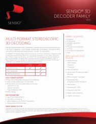 SENSIO® 3D DECODER FAMILY